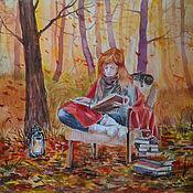 Картины и панно handmade. Livemaster - original item The history of autumn. Handmade.