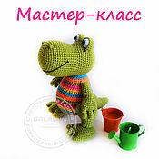 Материалы для творчества handmade. Livemaster - original item Master-class Crocodile rainbow Knitted toy. Handmade.