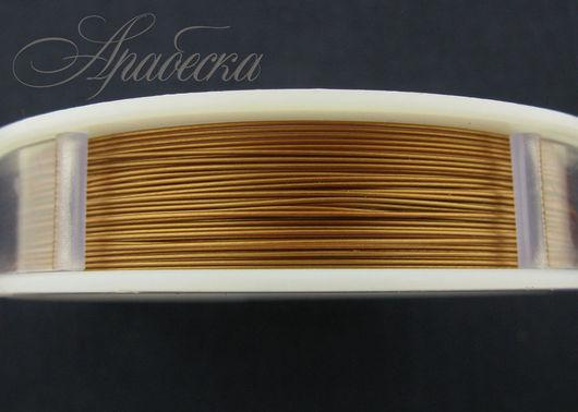 Тросик ювелирный  матового медного цвета 0.47мм BEADALON (США) 0.5м