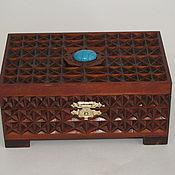 Для дома и интерьера ручной работы. Ярмарка Мастеров - ручная работа шкатулка малая с бирюзой №1. Handmade.