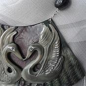 """Украшения ручной работы. Ярмарка Мастеров - ручная работа Колье """"Лебеди"""". Handmade."""