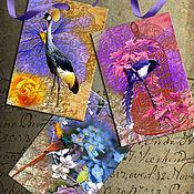 Шаблоны для печати ручной работы. Ярмарка Мастеров - ручная работа Закладки с птичками. Handmade.