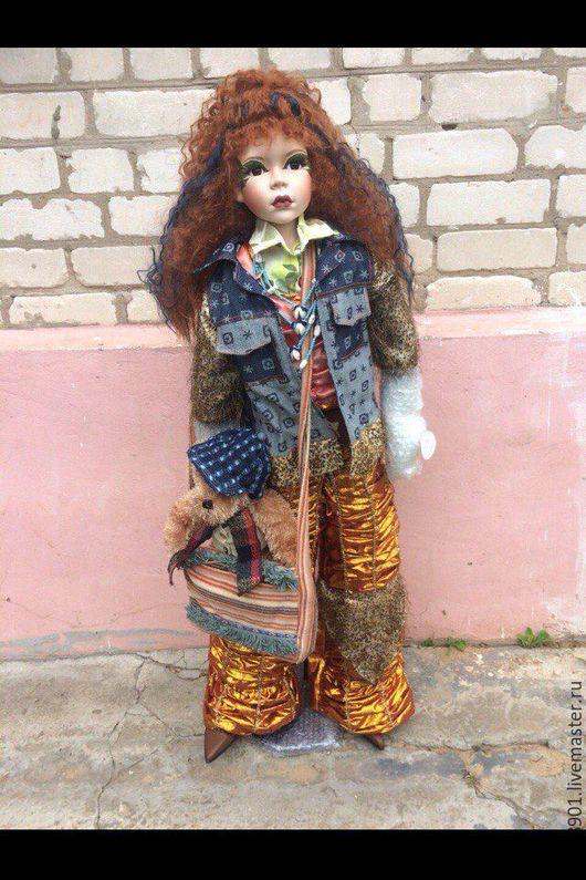 Статуэтки ручной работы. Ярмарка Мастеров - ручная работа. Купить форфоровая кукла. Handmade. Комбинированный, форфор