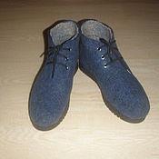 Обувь ручной работы. Ярмарка Мастеров - ручная работа Ботинки валяные, 38 размер. Handmade.