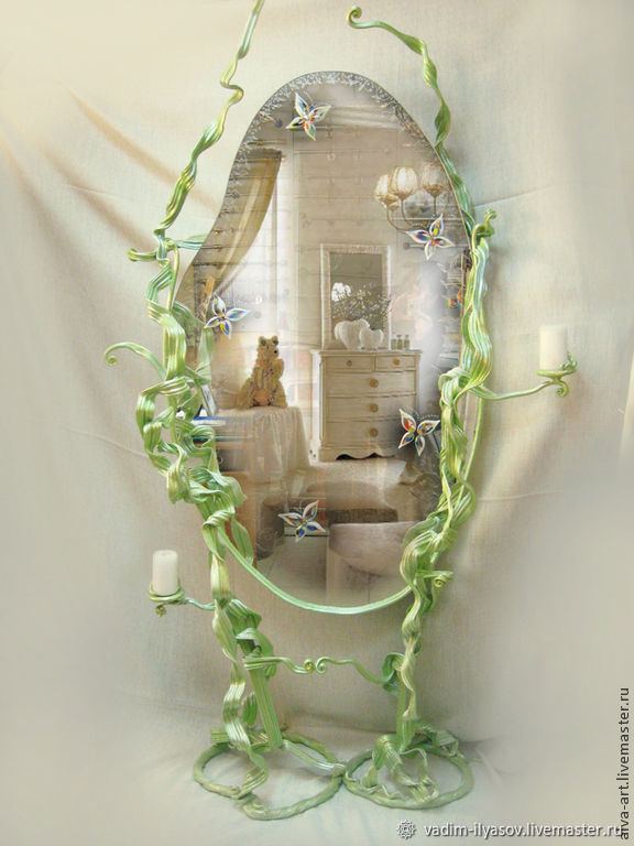 Wrought iron mirror ' Spring mood ', Mirror, Zelenograd,  Фото №1