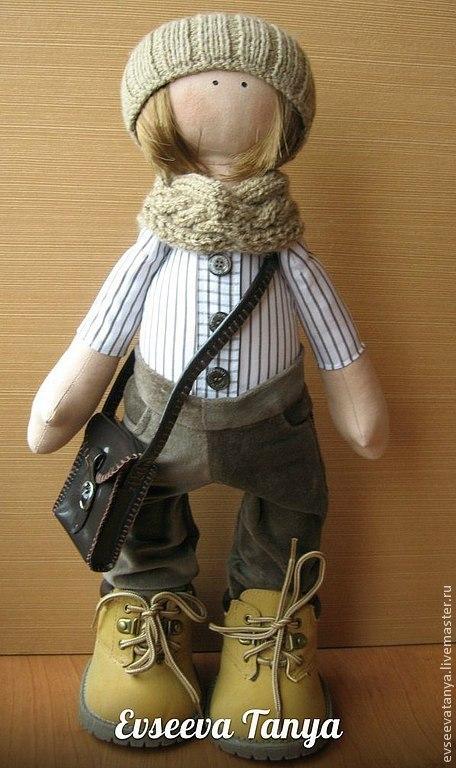 Коллекционные куклы ручной работы. Ярмарка Мастеров - ручная работа. Купить Андрюша. Handmade. Бежевый, кукла интерьерная, синтепон
