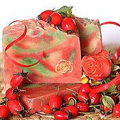 Косметика ручной работы handmade. Livemaster - original item Stationery Autumn rose from scratch red green. Handmade.