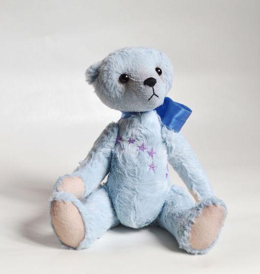Мишки Тедди ручной работы. Ярмарка Мастеров - ручная работа. Купить Мишка с вышивкой Дубхе. Handmade. Голубой, космос, альфа