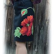 """Одежда ручной работы. Ярмарка Мастеров - ручная работа юбка """"Мак... красный"""". Handmade."""
