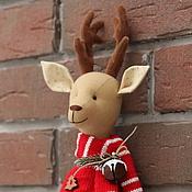 Куклы и игрушки ручной работы. Ярмарка Мастеров - ручная работа Рождественский олень - мягкая игрушка. Handmade.
