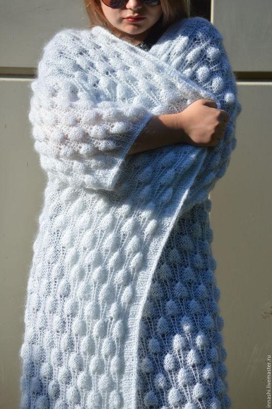 """Кофты и свитера ручной работы. Ярмарка Мастеров - ручная работа. Купить Кардиган вязаный из мохера """"Снежок"""". Handmade. Белый"""