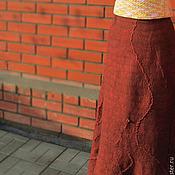 """Одежда ручной работы. Ярмарка Мастеров - ручная работа Юбка в пол """"Шоколадная крошка"""". Handmade."""
