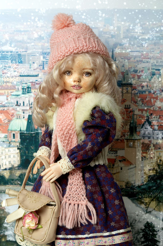 """Коллекционные куклы ручной работы. Ярмарка Мастеров - ручная работа. Купить Игровая кукла """"Александра"""". Handmade. Фиолетовый, подарок"""