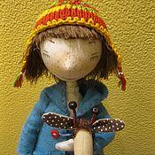 Игрушки ручной работы. Ярмарка Мастеров - ручная работа Кукла с жирафкой. Handmade.