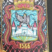"""Обложки ручной работы. Ярмарка Мастеров - ручная работа """"Орел"""". Патриотичная обложка на паспорт. Точечная роспись. Handmade."""