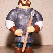 """Куклы и игрушки ручной работы. Ярмарка Мастеров - ручная работа """"Богатырь"""" керамическая игрушка. Handmade."""
