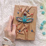 Канцелярские товары handmade. Livemaster - original item Notepad scarab. Handmade.