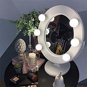 Для дома и интерьера ручной работы. Ярмарка Мастеров - ручная работа Белое гримерное зеркало. Handmade.