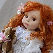 Куклы и игрушки handmade. Livemaster - original item Pauline. Textile doll. artdoll. Handmade.