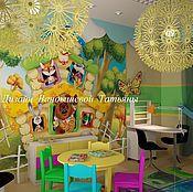 Дизайн и реклама ручной работы. Ярмарка Мастеров - ручная работа Дизайн Детской парикмахерской. Handmade.
