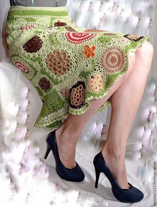 юбка, фриформ, цвет мха, лес, зеленый, лесной freeform crochet dress,
