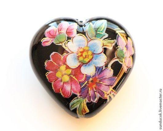 Для украшений ручной работы. Ярмарка Мастеров - ручная работа. Купить Бусина Тенша сердце (арт. 918). Handmade. Бусины