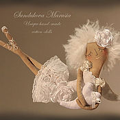 """Куклы и игрушки ручной работы. Ярмарка Мастеров - ручная работа """"Ангел хранящий любовь"""" - авторская кофейная куколка. Handmade."""