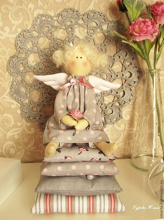 Куклы Тильды ручной работы. Ярмарка Мастеров - ручная работа. Купить Принцесса на горошине. Handmade. Розовый, Принцесса на горошине, хлопок