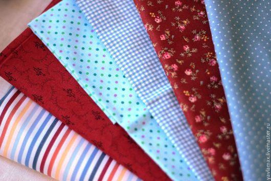 Шитье ручной работы. Ярмарка Мастеров - ручная работа. Купить Набор тканей Красный. Handmade. Ткань для рукоделия, ткань