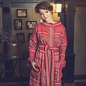 Одежда ручной работы. Ярмарка Мастеров - ручная работа Длинное красное пальто, в традиционном стиле.. Handmade.