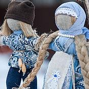 Кукла-оберег Неразлучники (синий, коричневый, голубой)