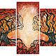 Модульная картина «Поцелуй », 60 x 140 x 0.3, дерево, 10 000 руб.