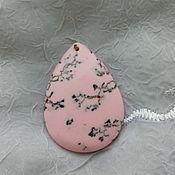Материалы для творчества ручной работы. Ярмарка Мастеров - ручная работа Подвеска розовый агат. Handmade.
