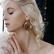 handmade. Livemaster - original item Earrings classic: Asymmetric sundial earrings. Handmade.