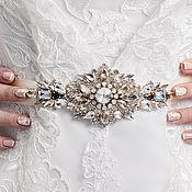 Свадебный салон ручной работы. Ярмарка Мастеров - ручная работа Стразовый пояс для невесты. Handmade.