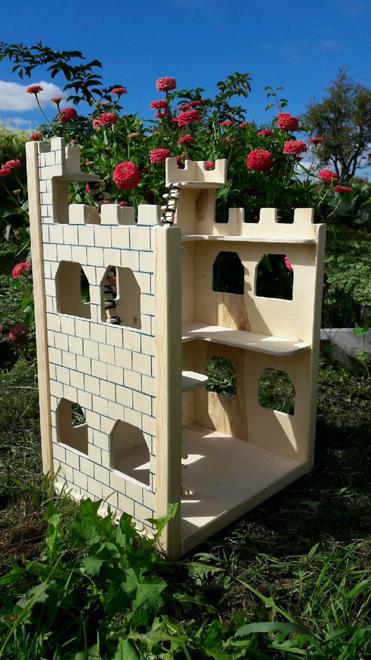 Кукольный дом ручной работы. Ярмарка Мастеров - ручная работа. Купить Крепость для воинов. Handmade. Крепость