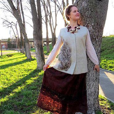 Clothing handmade. Livemaster - original item Skirt felted Tree of life. Handmade.