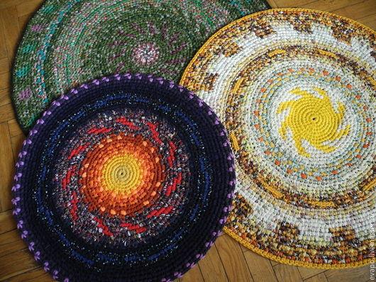 """Текстиль, ковры ручной работы. Ярмарка Мастеров - ручная работа. Купить Коврики """"И было утро, и был вечер, один день"""". Handmade."""