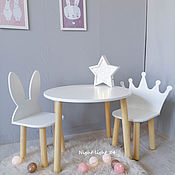 handmade. Livemaster - original item Children`s table and two chairs. Handmade.
