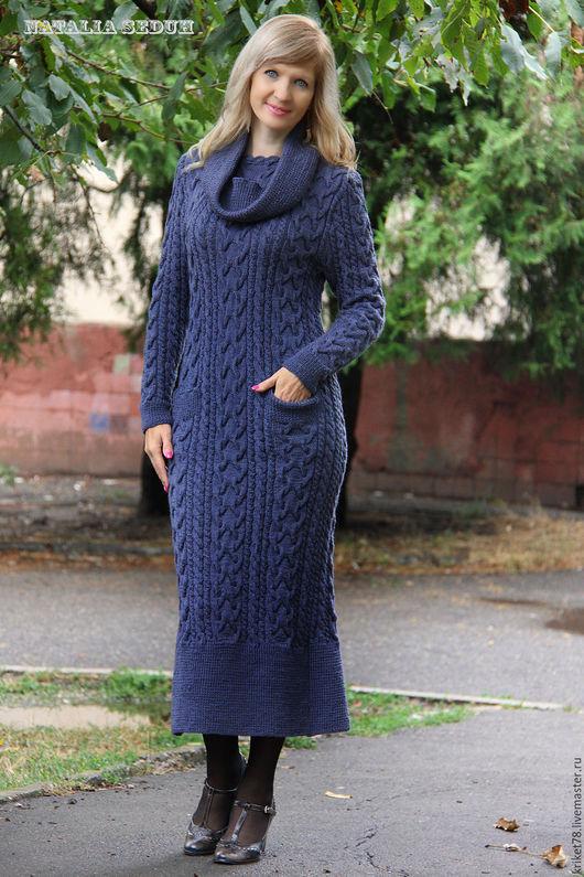 Платья ручной работы. Ярмарка Мастеров - ручная работа. Купить Вязаное платье ручной работы аранами. Handmade. Вязаное платье