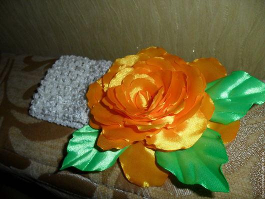 Детская бижутерия ручной работы. Ярмарка Мастеров - ручная работа. Купить повязки на голову для девочки. Handmade. Лента атласная