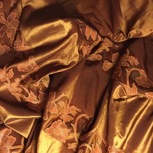 Эзотерические аксессуары ручной работы. Ярмарка Мастеров - ручная работа. Купить Ткань для штор. Handmade. Коричневый, ткань для штор, кружево