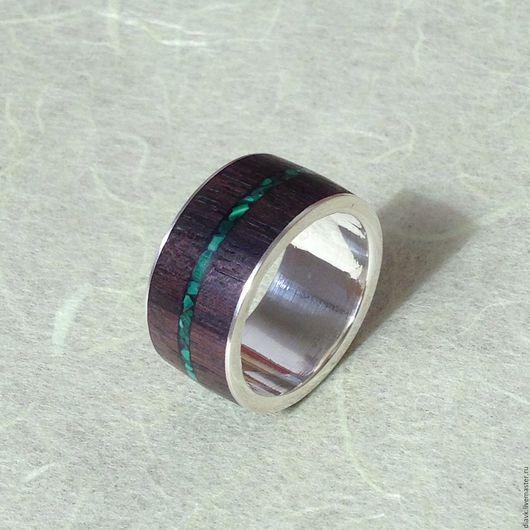 """Кольца ручной работы. Ярмарка Мастеров - ручная работа. Купить """"Ветер саванны"""", серебряное кольцо с деревом и малахитом. Handmade. Коричневый"""