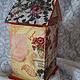 """Кухня ручной работы. Домик для чайных пакетиков """"Красные маки для кузины"""")). Art-Salon Zolotun. Ярмарка Мастеров. Чай, лак"""