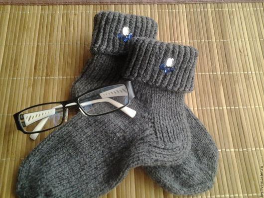 Носки, Чулки ручной работы. Ярмарка Мастеров - ручная работа. Купить носочки женские. Handmade. Серый, носочки шерстяные