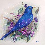 Картины и панно ручной работы. Ярмарка Мастеров - ручная работа Синяя птица удачи!:-). Handmade.