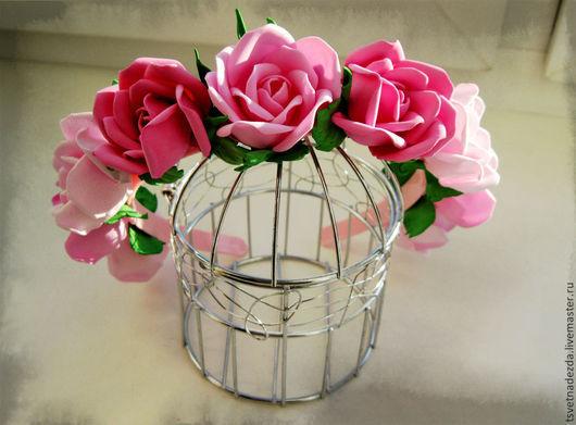 """Диадемы, обручи ручной работы. Ярмарка Мастеров - ручная работа. Купить Обруч для волос """"Розовый ноктюрн"""". Handmade. Цветы"""