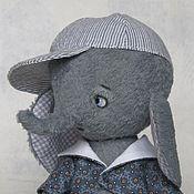 Куклы и игрушки ручной работы. Ярмарка Мастеров - ручная работа Дениска слоник тедии 19 см. Handmade.