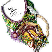 """Украшения ручной работы. Ярмарка Мастеров - ручная работа Колье в стиле """"Африканские джунгли"""". Handmade."""
