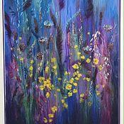 """Картины и панно ручной работы. Ярмарка Мастеров - ручная работа картина из шерсти """"Июльская ночь"""". Handmade."""